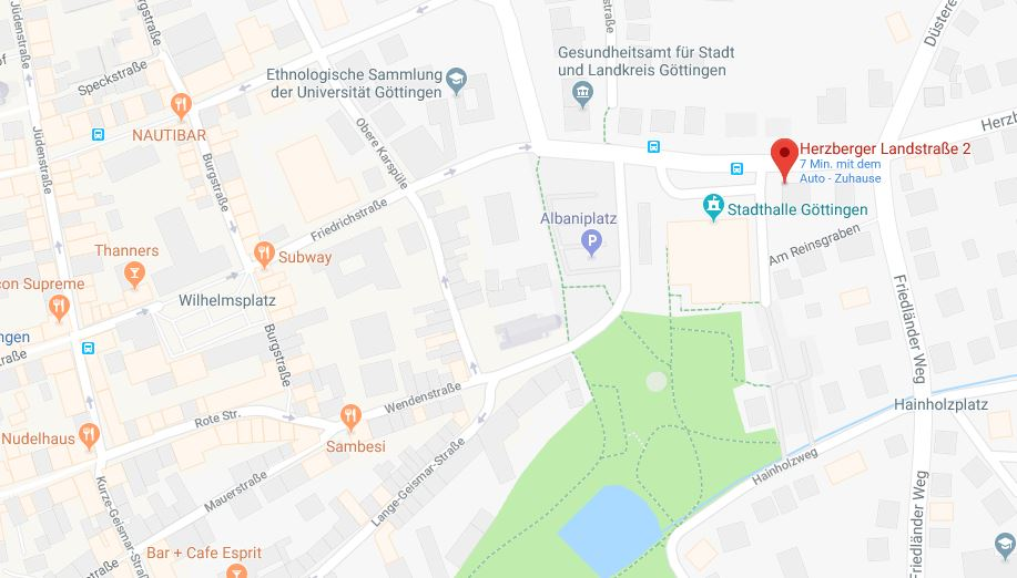 karte herzbergerlandstr2 - Uni Gottingen Bewerbung